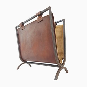 Vintage Magazine Rack by Jacques Adnet