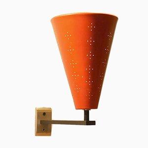 Minimalistische italienische Wandlampe in Kegelform, 1950er