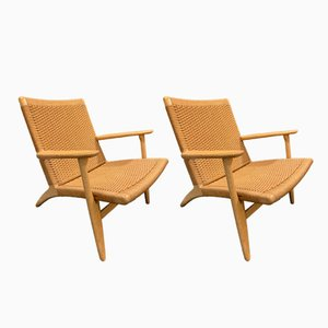 Iruna CH25 Armchairs by Hans J. Wegner for Carl Hansen & Søn, 1950s, Set of 2