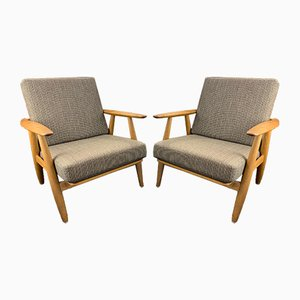 GE240 Cigar Armchairs by Hans J. Wegner, 1950s, Set of 2
