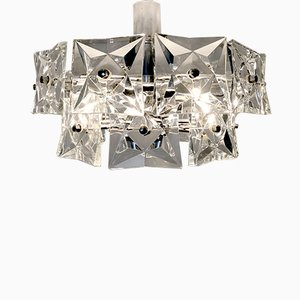 German Crystal Glass Chandelier from Kinkeldey, 1960s