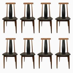 Skandinavische Stühle aus Teak, 1980er, 8er Set
