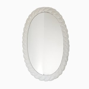 Ovaler Vintage Spiegel mit Rahmen aus Harz, 1970er