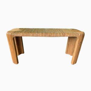 Table Console en Roseau de Bambou et Crayon Fendu, 1970s