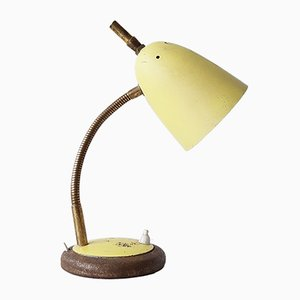 Lampada da tavolo Zazou con paralume giallo, anni '50