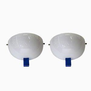 Apliques modelo Victor de cristal de Murano de Venini, 1991. Juego de 2