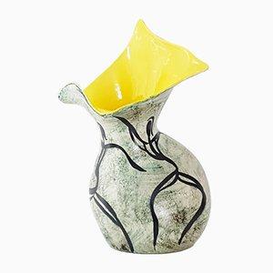 Jarrón vintage de cerámica