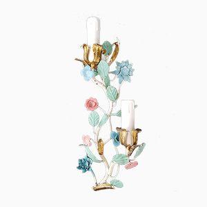 Wandlampe in Blütenzweig-Optik, 1950er