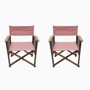 Chaises de Direction Vintage en Chêne par Tania Blixen, Set de 2