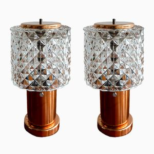 Czech Bedside Table Lamps, 1950s, Set of 2