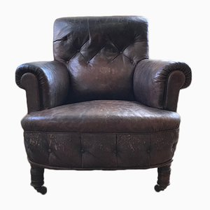 Antique Leather Lounge Chair