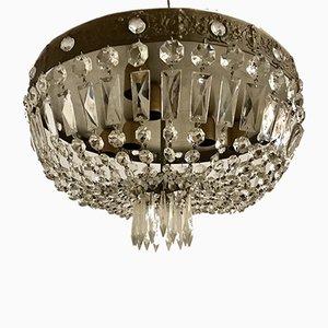 Lampada ad incasso vintage in cristallo, anni '50
