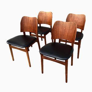 Vintage Esszimmerstühle mit Gestell aus Teak von Bramin, 4er Set