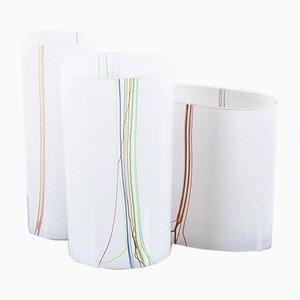 Vasen aus der Regenbogen-Serie von Bertil Vallien für Kosta Boda, 1970er, 3er Set