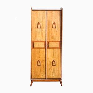 Spanischer Kleiderschrank aus Pinienholz mit 2 Türen, 1960er