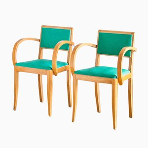 Vintage Beech Bridge Chairs, 1960s, Set of 2