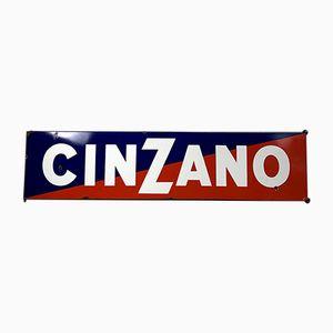 Großes emailliertes Cinzano Scild, 1940er