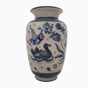 Handbemalte Keramikvase von Paterna Mailoca d'Art, 1985