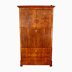 Oak and Walnut Root Secretaire, 1870s