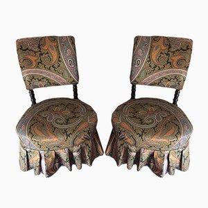 Sedie da bambino antiche in stile Napoleone III, set di 2