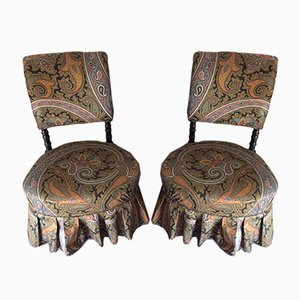 Sillas infantiles estilo Napoleón III antiguas. Juego de 2