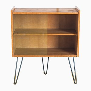 Oak Cabinet with Hairpin Legs, 1970s