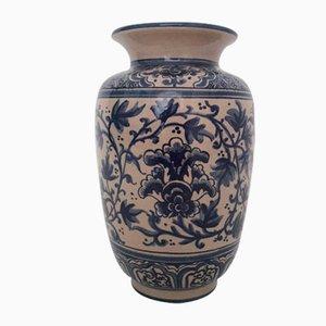 Vaso in ceramica dipinta a mano di Paterna Maiolica d'Art, 1985