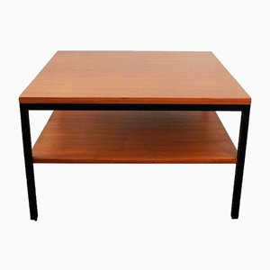Vintage Wood & Metal Coffee Table with Shelf, 1960s