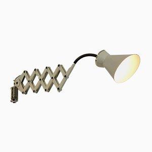 Vanillefarbene Wandlampe aus Messing von Stilnovo, 1950er