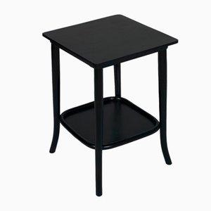 Tavolino antico in legno di noce ebanizzato di Josef Hoffmann per Thonet