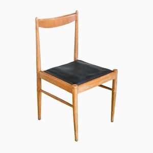 Spanish Beech Wood Dining Chairs, 1960s, Set of 6