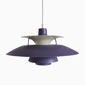 Lampes à Suspension PH5 Vintage Violetes par Poul Henningsen pour Louis Poulsen, 1950s, Set de 2