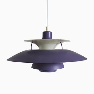 Vintage Purple PH5 Pendant Lamp by Poul Henningsen for Louis Poulsen, 1950s, Set of 2