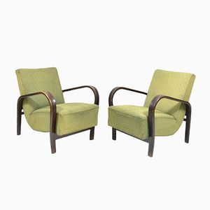 Vintage Armchairs from Interier Praha, 1950s, Set of 2