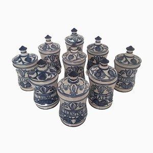 Apothekenbehälter aus Keramik von Paterna Maiolica d'Art, 1980er, 9er Set