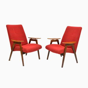 Model 6950 Armchairs by Jaroslav Smidek for Jitona, 1960s, Set of 2