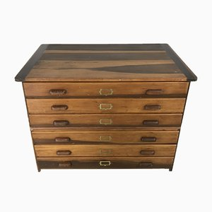 Mid-Century Plan Chest with 6 Drawers