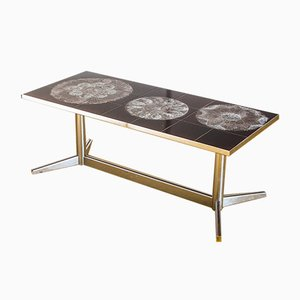 Glazed Ceramic Side Table, 1970s
