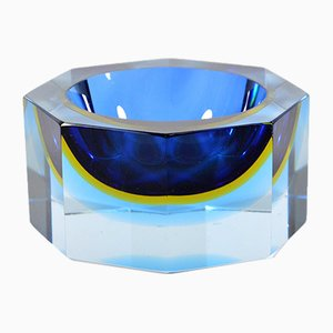 Sommerso Murano Glass Ashtray by Flavio Poli for Seguso, 1960s