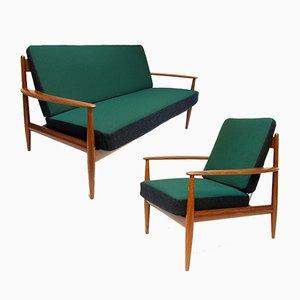 Canapé & Chaise FD-118 par Grete Jalk pour France & Daverkosen, 1950s, Set de 2