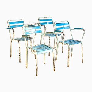 French Garden Chairs from Tolix, 1960s, Set of 4