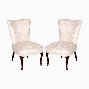 Antique Art Nouveau Side Chairs, 1890s, Set of 2