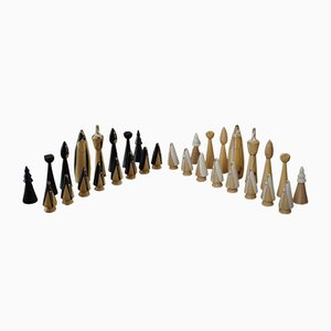 Japanese Hand-Made Chess Set, 1970s, Set of 32