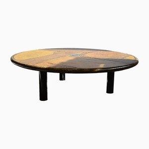 Tavolino da caffè in ardesia lavorata a mano di Paul Kingma, 1997