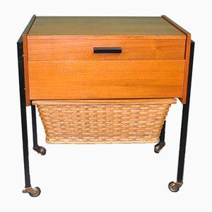 Vintage German Sewing Box on Castors, 1960s