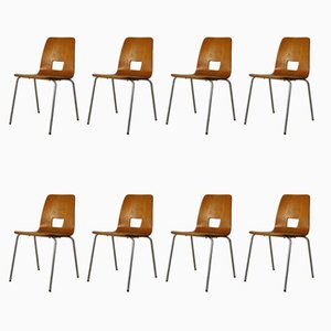 Vintage School Chairs from Horgenglarus, 1970s, Set of 8