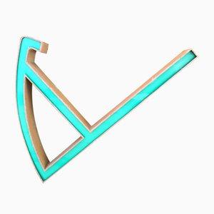 Lettera A in ferro e plexiglas, anni '50