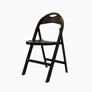 Bentwood Folding Chair with Croco Woodprint from Thonet, 1930s