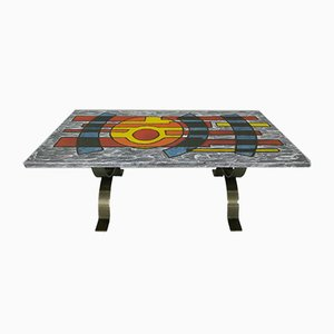 Enameled Lava Coffee Table, 1960s