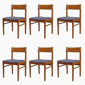 Vintage Esszimmerstühle aus Teak, 6er Set